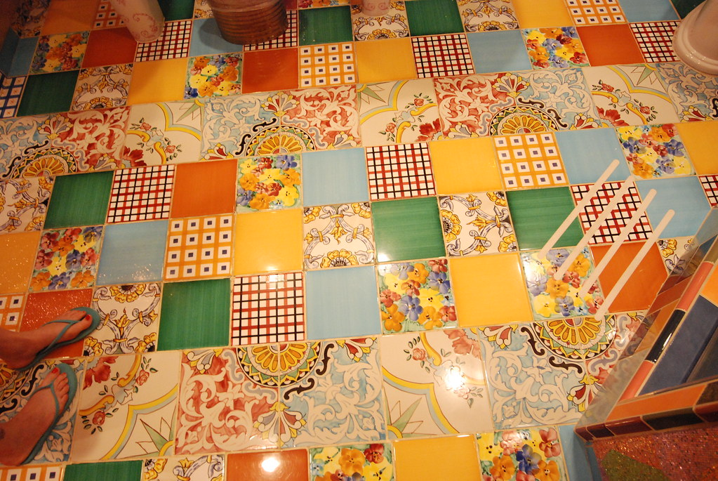 How To Tile A Floor >> Crazy tile floor | trixiepinks | Flickr
