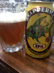 Good beer can come in a can! Enjoying a Farmhouse Ale - Snapperhead IPA | by ari.fuchs