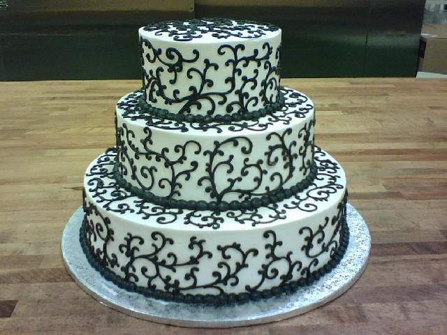 piping wedding cake designs black piping wedding cake dairyberry flickr 18614