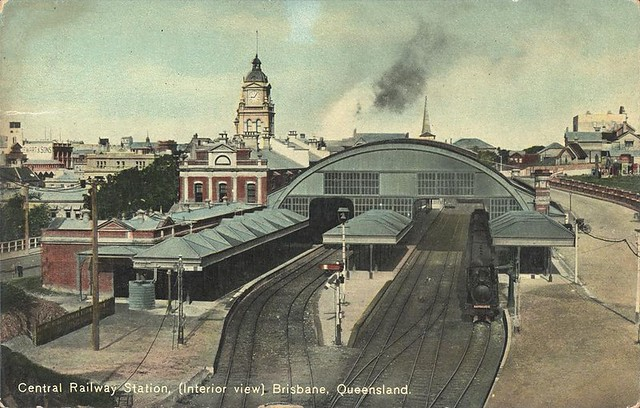 View Of The Platforms Of The Central Railway Station Bris