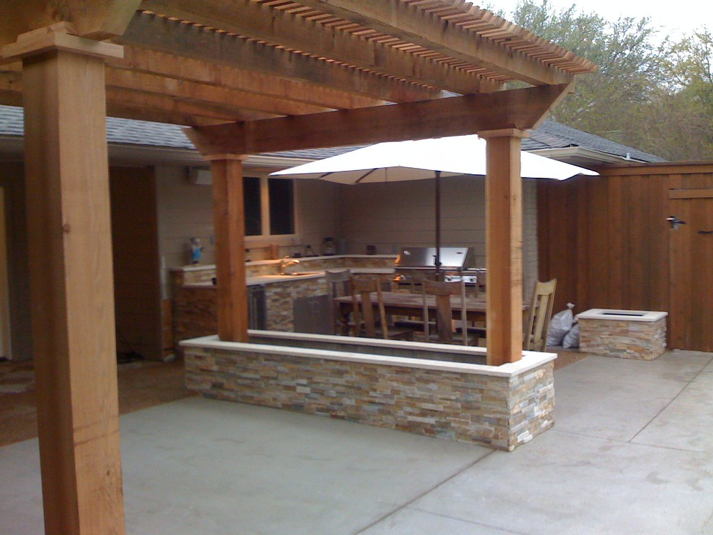Grapevine Outdoor Kitchen A Custom Designed Outdoor Kitche Flickr
