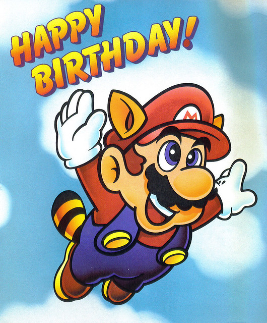 Mario Birthday Card Being A Subscriber To Nintendo Power I Flickr