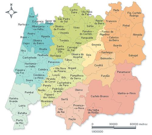 mapa concelhos Região Centro   78 concelhos | A Região Centro (NUT II) cons… | Flickr mapa concelhos