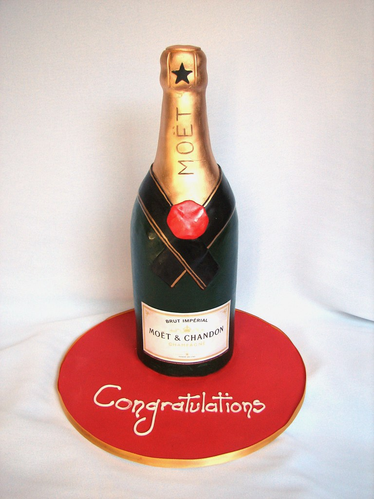 Champagne Bottle Cake Liz Russell Flickr