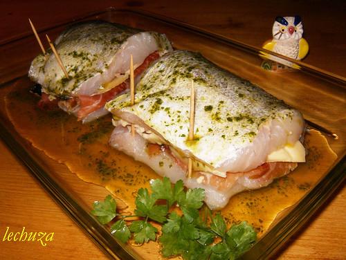 Cachopo merluza rellena fuente mi lechuza cocina flickr - Merluza rellena de marisco al horno ...