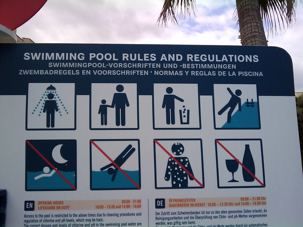 Swimming Pool Rules And Regulations Pilsna Flickr