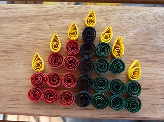 Quilled kwanzaa candles flickr for Hanukkah crafts for adults