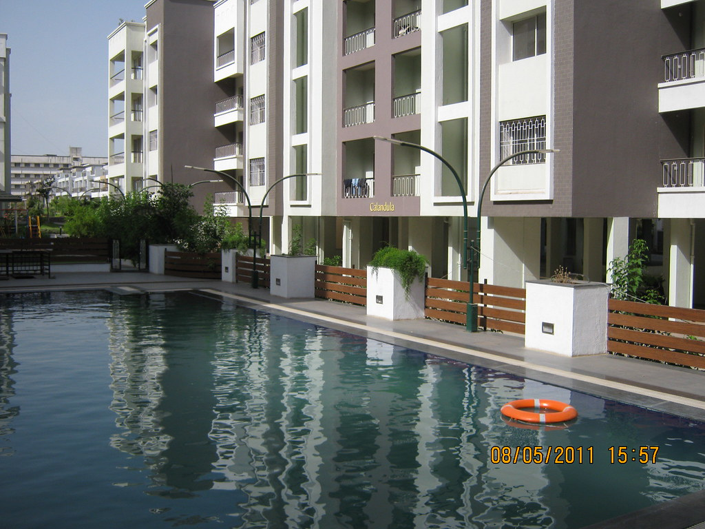 swimming pool in kolte patil developers green groves re flickr