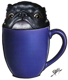 I'll Take Mine Black (Pug in a Mug) | by poodlephile_lucy