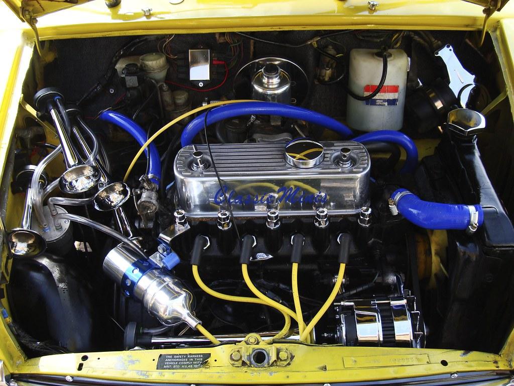 engine bay ernies girl flickr