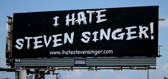 we hate steven singer