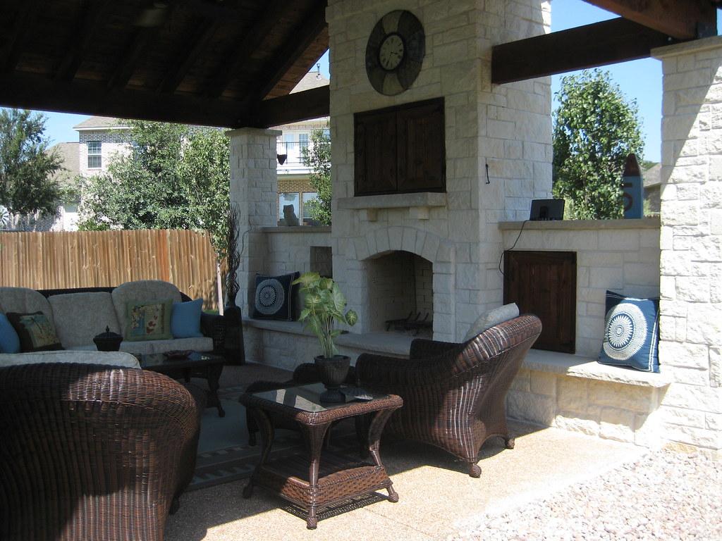 Austin Stone Fireplace Austin Stone Fireplace Covered