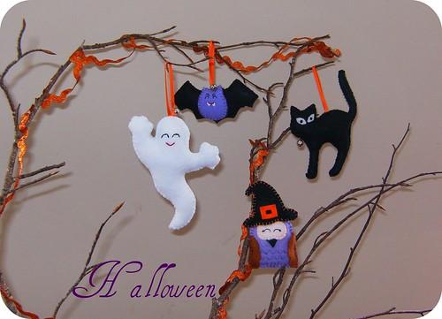 Adornos de fieltro para halloween felt decoration flickr - Adornos halloween caseros ...