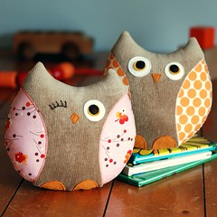 Owl Softies: Stella & Stewart | by Retro_Mama