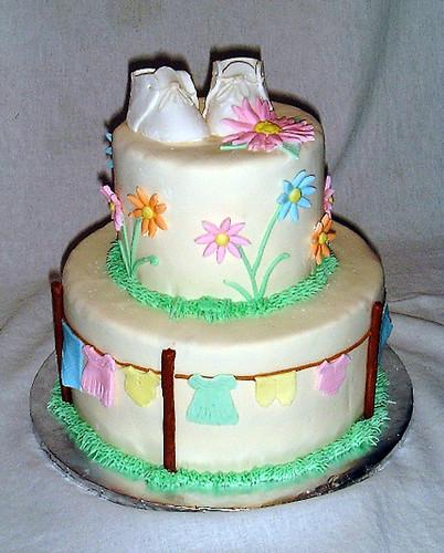 Clothesline Baby Cake Rachel Pizano Flickr
