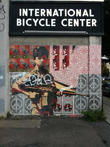 Shepard Fairey in Allston | by Ches Martin