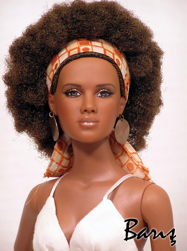 Black Barbie With Short Natural Hair