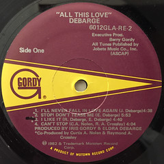 DEBRGE:ALL THIS LOVE(LABEL SIDE-A)
