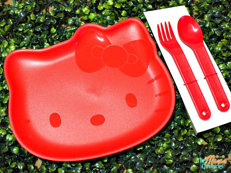 Hello Kitty Dining Plate with Cutlery Set