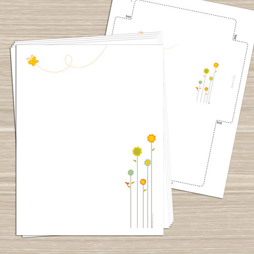 Spring Flowers - Printable Stationery, Notecards, Tags/Stickers | by ...