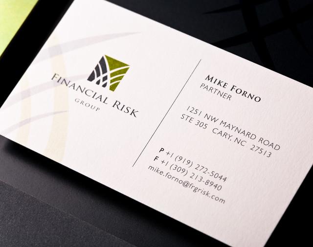 fa financial risk group business card fa developed