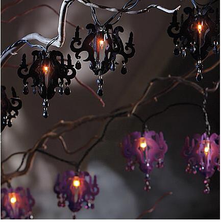 Flocked chandelier string lights grandin road halloween 20 flickr flocked chandelier string lights by belinda darling aloadofball Image collections