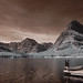 Swiftcurrent Lake  and Boat Dock - Infrared
