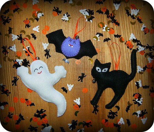 Adornos de fieltro para halloween felt decoration flickr - Adornos para pared ...