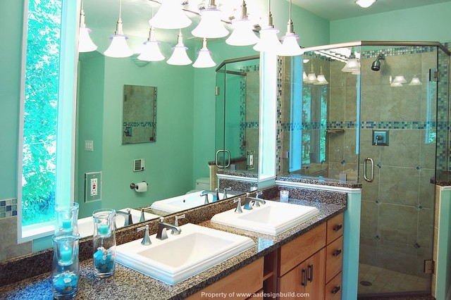 wwwaadesignbuildcom aa design build remodeling master bathroom washington dc - Small Bathroom Remodel Corner Shower