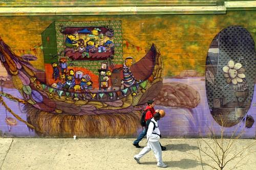 Os gemeos mural coney island new york city stillwell for Coney island mural