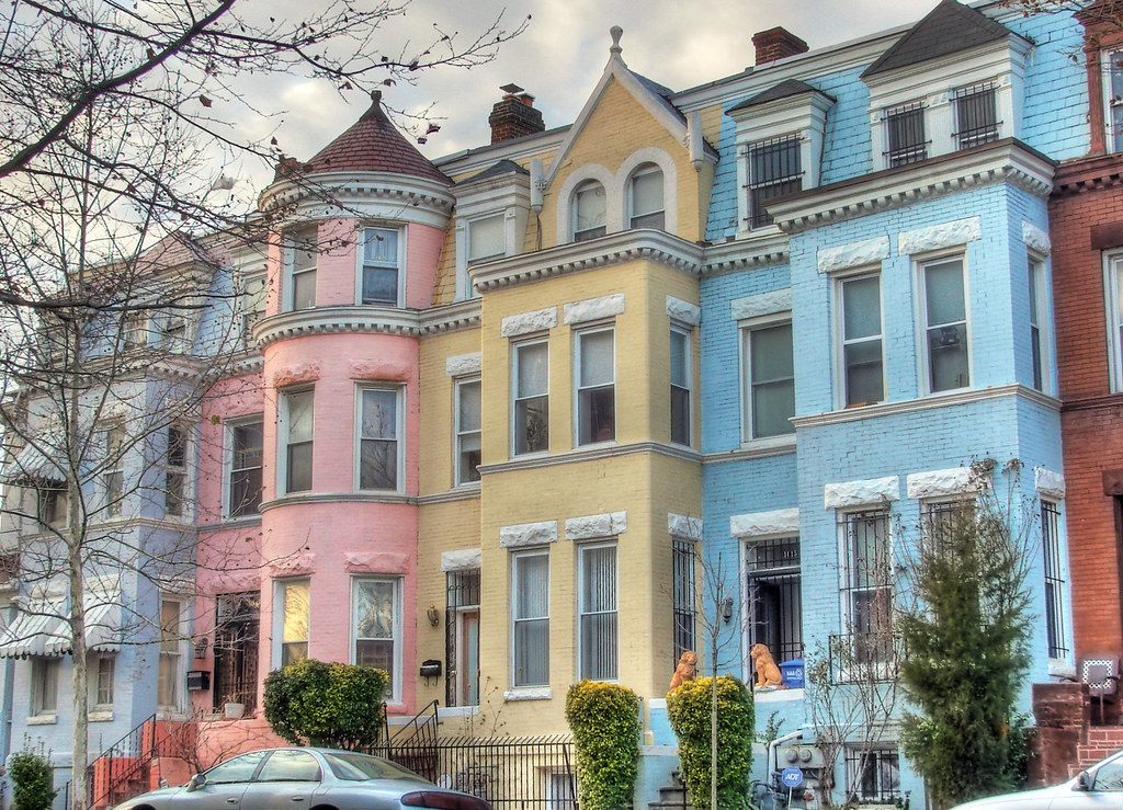 Pastel houses a row of pastel houses on monroe street for Home architecture tumblr