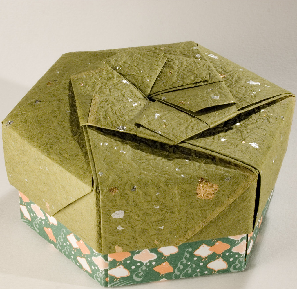 Decorative Hexagonal Origami Gift Box with Lid: # 11 | Flickr - photo#19