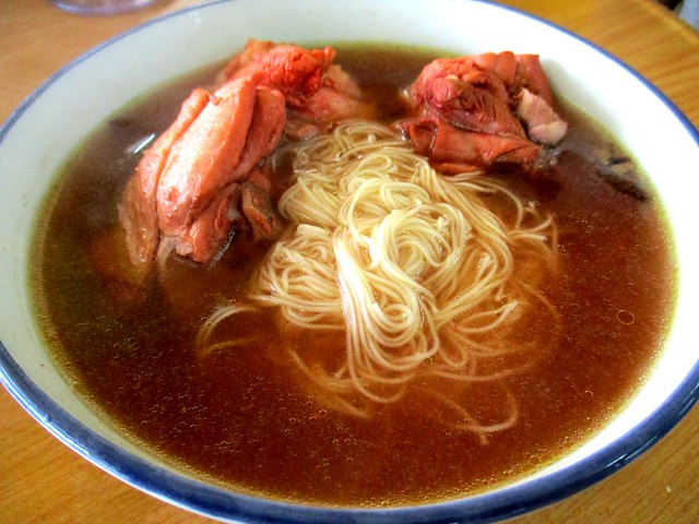 Mee sua in traditional Foochow red wine chicken soup 1