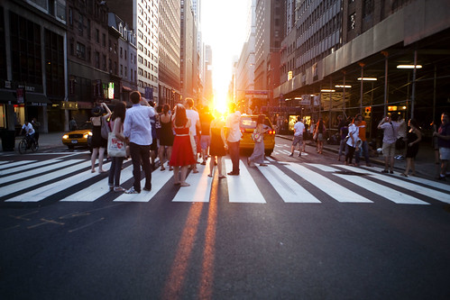 Manhattanhenge from a Taxi | by Dan Nguyen @ New York City