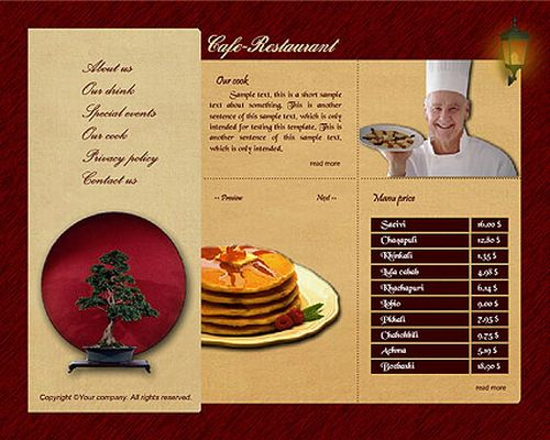 Free flash template restaurant get it from