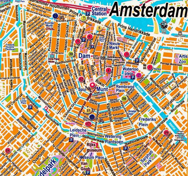 amsterdam karta 1   Amsterdam Map | Great map of Centrum, from off the onlin… | Flickr amsterdam karta