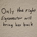 Only the right eigenvector