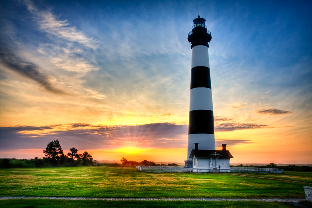 Bodie Island Lighthouse Sunrise At Bodie Island
