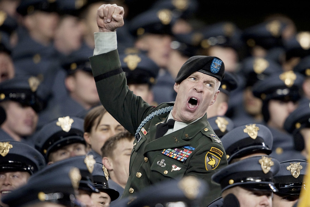 Go Army A Soldier Celebrates During The 110th Playing