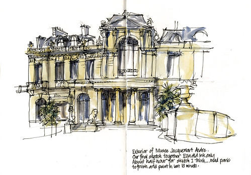 Paris07_07 Final Museeand sketch with Eza | by Liz Steel Art