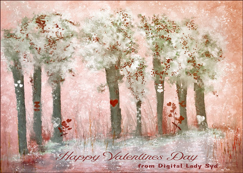 Painted Valentine Trees