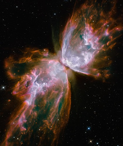 Hubble's New Eyes: Butterfly Emerges from Stellar Demise in Planetary Nebula NGC 6302 | by NASA Goddard Photo and Video
