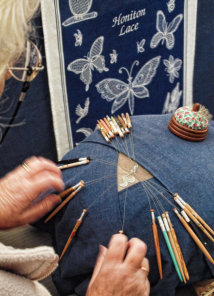 Honiton Lace Making Demonstration of Honiton Lace