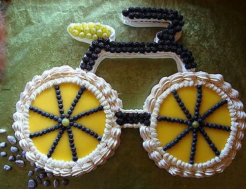 Bicycle Birthday Lemon Curd Cake Wheels Meringue Tread