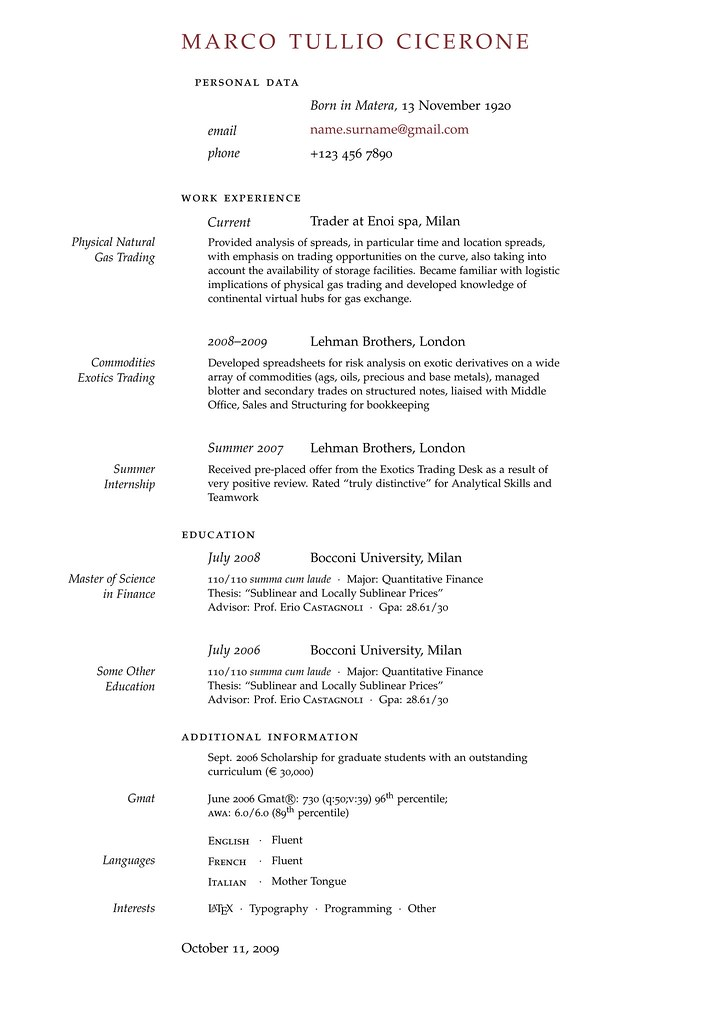 ... Curriculum Vitae Template | By The CV Inn  Resume In Latex