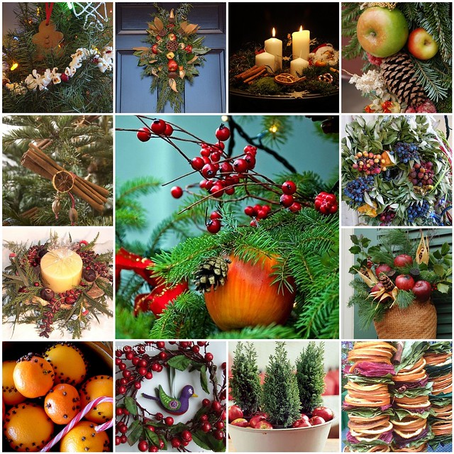 Natural christmas decorating all the these photographs