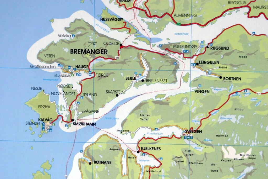 Bremanger map | Kart over Bremanger kommune, Sunnfjord