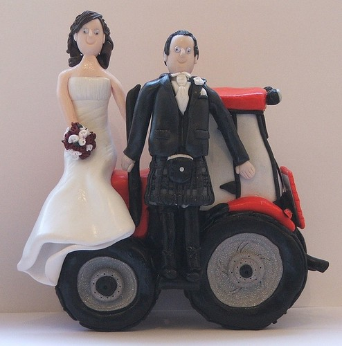 Tractor Bride And Groom