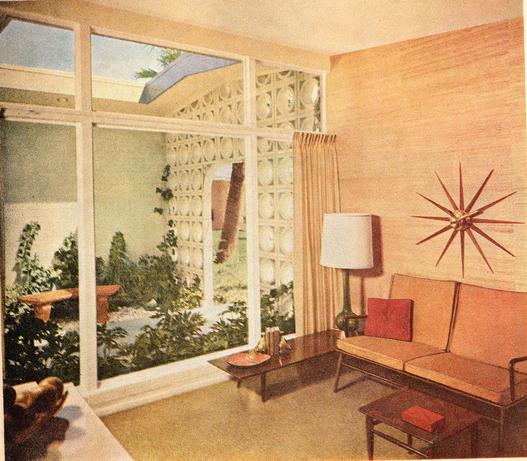 Living Room 1960 living room 1960 | note the outdoor entry area enclosed with… | flickr