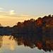 Autumn sunset on Shaker lake